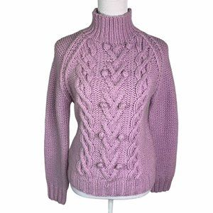 J. Crew Lambswool Sleeves Hand Knit Sweater